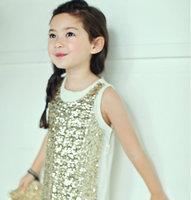 New arrival Korean Fashion summer Sequins Shining brill Sleeveless dress