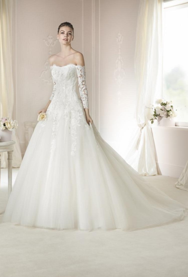 robe de mariée manches trimestre en Ligne à des Grossistes robe de ...