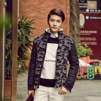 2014 New Winter Autumn Thick Men's Down Jacket Warm Fashion Polar fleece stand Collar Camouflage Jacket Cotton Polyester Coat