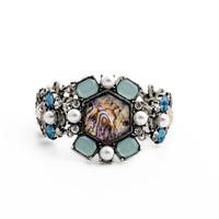 Shijie Jewelry Newest Rhinestone Bracelet 2015 Brand Designer Charming Silver Color Pulseira