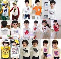 Cotton spring autumn children t-shirt child tops tees kids clothes boys blouse girls long sleeve t shirt  cartoon good