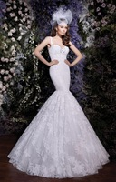 BF0430 Glamorous Sweetheart Beading Lace Trumpet Backless Wedding Dress Wedding Gown Bridal Dress Bridal Gown Pageant Dress