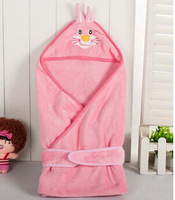 Baby coral fleece swaddling new born spring blankets infant sleeping blankets child autumn swaddle