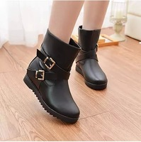 2014 fashion boots flat elevator martin boots motorcycle boots shoes women's