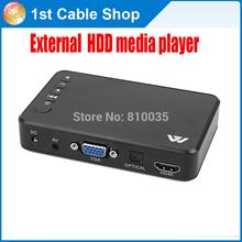 versandkostenfrei& Wholesale 1 stück 1080p externe usb-festplatte media-player-box HDMI/VGA/av out unterstützt mit Fernbedienung in retail pack(China (Mainland))