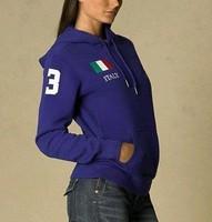 Hot Selling Italy Flag Womens Polo Hoodies USA France Flag Ladies Tracksuit American Brand Sports Coats Jacket Sweatshirts Track