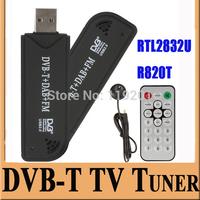NEW USB Smart TV Stick USB2.0DVB-T & RTL-SDR Realtek RTL2832U & R820T DVB-T Tuner Receiver MCX Input Tuner Receiver