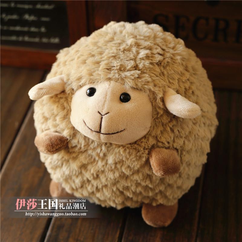 Super cute little doll sheep lamb round plush toys very soft(China (Mainland))