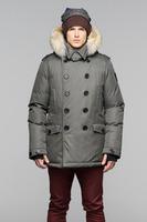 100% real Fur Kato Peacoat Bomber Parka 2014 man Arctic bay Down Jacket Fur homme doudoune Hood Parka,FREE SHIPPING Canada