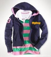 NWT Navy Blue Women's Polo Hoodies Brand Tracksuit Spring Autumn Full Zip Slim Ladies Casual Jacket Sports Coats Sweatshirt