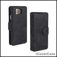 Retro Matte Wallet Leather Case for Samsung Galaxy Alpha G850