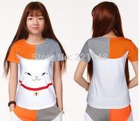2015 New Arrival Natsume Yuujinchou cat short sleeve short sleeve T shirt