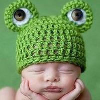 2014 new children's hats cute little baby frog cap knit wool hat