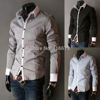 2014 Autumn Casual Shirt For Men Male Brand New Luxury Stylish Fashion Slim Fit High Quality Shirt Long Sleeve Shirts