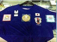 2014/15 New Best Thai Quality Japan Home Blue Football Soccer Jerseys Male Sport Shirts come with the 60s, Asian Cup 3 patches
