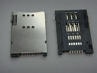 Fast shipping +wholesale  SIM socket ,6pins ,surface mount ,stainless case ,500pcs/lot