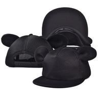Cartoon big ears flat brimmed hat Hip-hop mesh cap Female summer hat Hip hop cap baseball cap