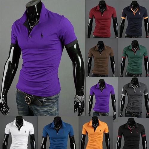 Hot vente de marque coton court.- manches longues de polo pour les hommes de la mode masculine minces. sommets.& tees, shirts, occasionnels t- shirts,