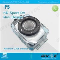 2014 Sport F5 MiNi Action Camera Waterproof DVR 2.0 Inch LCD Touch screen + 4 Times Digital Zoom Underwater Camera Sport DV