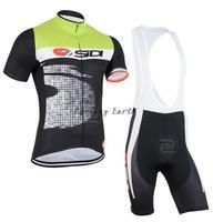 New arrive! SIDI 2015 short sleeve cycling jersey bib shorts set bike bicycle wear clothes jersey pants,gel pad,free shipping!