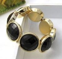 Fashion Jewelry Korea Star Gem Round Trendy Charm Bracelet & Bangle For Woman 2015 New Gift SALE