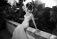2015 Vestido De Noiva Mermaid Tulle Lace Wedding Dress Backless Bridal Gown Bride Dresses Custom Size 2 4 6 8 10 12 14 16 18++