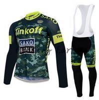 Free shipping! SAXO BANK 2015 long sleeve autumn bib cycling wear clothes bicycle bike cycling jersey bib pants set gel pad !
