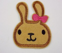 Hot !50pcs  Free shipping rabbit iron on applique or Sew on fashion embroidery applique patch NEW