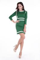 Quality Women Ladies Fashion Clothing Dresses One Piece Europe Style Office Party O-Neck Vintage Elegant Long Sleeve 13148