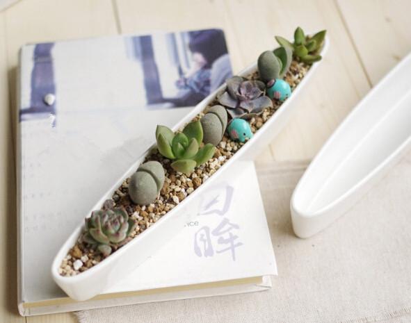 Sea vessel pots ceramic pots Home decoration flower pots planters decorative vase flores pot bonsai planters tabletop decor(China (Mainland))