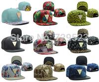 Top 2015  New Features triangle mark snapback baseball cap hat Korean tidal flat brimmed hat men BBOY board cap fur hat