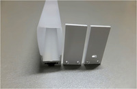 RA-2119C;1M long aluminum alloy profile with PC cover;for flexibe and rigid LED strips;for 16mm pcba