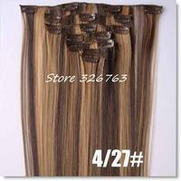 55cm 90g 7pcs/set Japan High Temperature Fiber Clip in Hair Extensions,Kanekalon Fiber Clip on Hair Extensions,straight hair