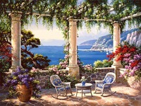 2015 new style Framed painting by number hand painted  picture oil painting for living room 4050 lookout sea