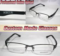 Fashion gun gray frame black leggs Optical Custom made optical lenses Reading glasses +1 +1.5 +2+2.5 +3 +3.5 +4 +4.5 +5 +5.5+6