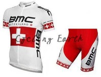 New arrive! BMC 2015 short sleeve cycling jersey shorts set bike bicycle wear clothes jerseys pants,silicone pad,free shipping!