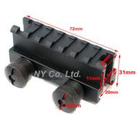 "Compact See-Thru Riser Base Dovetail 25.4mm 1"" Riser Mount for Picatinny Rail"