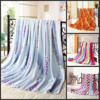 New style 180*200CM mink cashmere. Wedding silk blanket coral fleece blanket winter children dear skin thin blanket 11 color