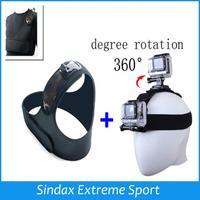 Head Strap Mount Belt Harness Adjustable Head Belt + Single Shoulder Belt For ALL Gopro Hero 4 Hero 3 SJ4000 Accessories