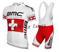 New arrive! BMC 2015 short sleeve cycling jersey bib shorts set bike bicycle wear clothes jersey pants,gel pad,free shipping!