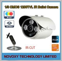 "Free shipping 1200TVL 1/3"" CMOS 3PCS Array LED Night Vision 25M IR CUT ICR Outdoor Waterproof Weatherproof CCTV IR Bullet Camera"