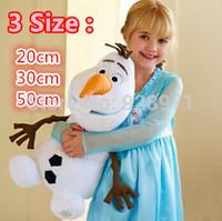 2014 High Quality Frozen Doll 20cm 30cm 50cm Frozen Princess OLAF 3 SIZE Plush Toy Snowman Toy Children Gifts.Cartoon Movie Doll
