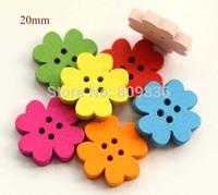 20mm, New Sakura shape buttons, 4 holes button for scrapbooking (ss-68)