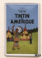 TINTIN EN AMERIQUE Home Decoration Retro Tin Signs Wall Art decor Bar Vintage Metal Craft Painting Wall Stickers Plaque