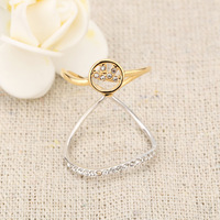 Fashion ring for women 18K gold plated Austria crystal  finger ring for women J4164