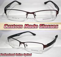 Dark red alloy frame wide legs Optical Custom made optical lenses Reading glasses +1 +1.5 +2+2.5 +3 +3.5 +4 +4.5 +5 +5.5+6