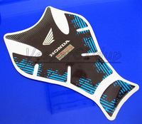 Free Shipping For CBR VFR CB NSR VTR CBF CBX High Quality 3D Motorcycle Oil Tank Decals Gas Pad Protector Sticker Blue QJC2326