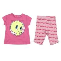 2015 Newest Summer Baby Girls Clothing Set Tweety Bird Cotton Infant Cartoon Clothes Casual 2PCS Newborn Kids Sport Suits CS479