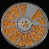 1 wheel 4mm 3d Design Nail Art Glitter Tips Acrylic Rhinestones Sticker Decorations DIY Nail Tools Round Wheel #ND0600