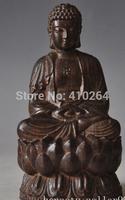 [wholesale_jewelry_wig ] free shipping China Buddhism Rosewood sandalwood Carving sakyamuni Shakyamuni Tathagata Statue